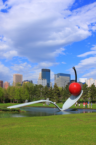 Minneapolis Skyline with Spoonbridge and Cherry